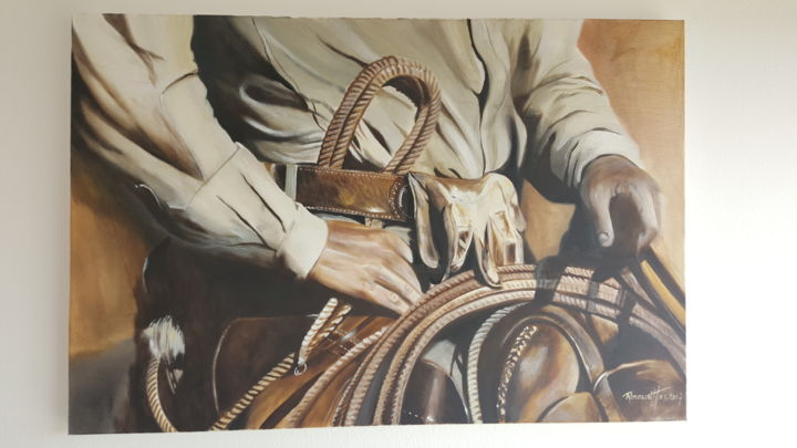 """Painting titled """"Western attitude"""" by Renaud Hadef, Original Art, Oil"""