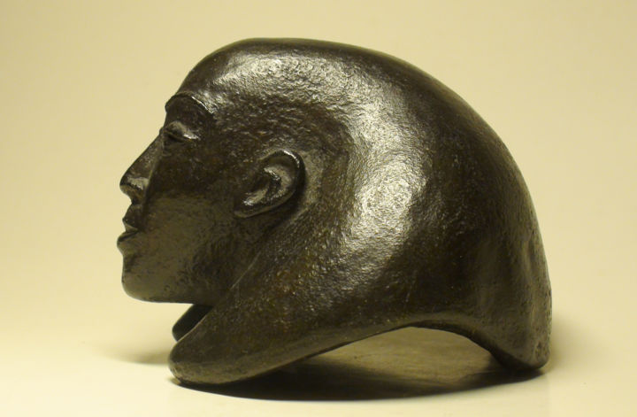 SPHINX - Sculpture,  3,2 in, ©1997 par Isis Lully -                                                                                                                                                                                                                                                                                                                                                                                                              Figurative, figurative-594, Bronze, Femmes, sphinx, femme, pharaon, egypt