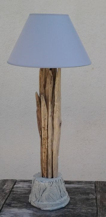 Lampe ganivelle - Design,  84 cm ©2015 by Jean Louis Renaudin -                                            Wood, Science & Technology, lampe, bois flotté, jean louis renaudin