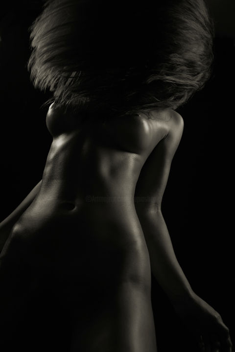 Bloom - Limited Edition 8 of 25 - Photography,  120x80x0.1 cm ©2013 by Yevgeniy Repiashenko -                                                                                                                                Abstract Art, Conceptual Art, Figurative Art, Portraiture, Abstract Art, Body, Erotic, Nude, People, beautyful, woman, body, form, body shapes, erotic art, beauty, female, fine art, graceful, interior design, nude art, nude, pretty girl, pretty woman, sexy art, sexy, shades, artistic, bodyline, bodyscape, breast, charming, color, colorful, elegant, erotica, eroticism, erotics, femininity, figurative, figure, gentle, hair, hairs, hips, intimate, monochrome, monotone, movement, portrait, portraiture, sensual, sensuality, sexuality, shadows, repiashenko, Yevgeniy Repiashenko
