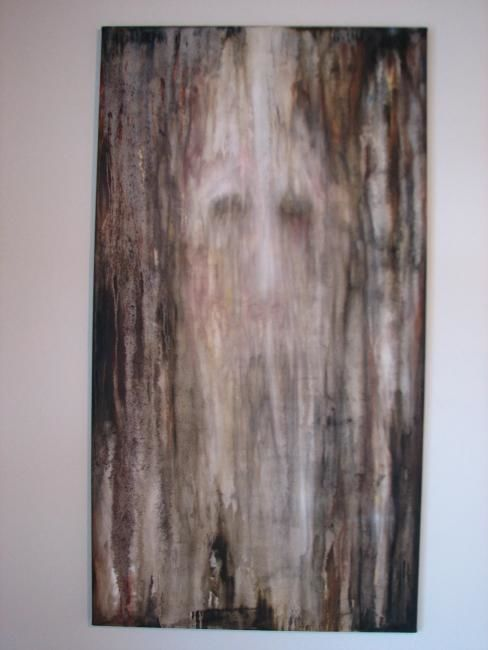 """Painting titled """"Cave People."""" by Neal Curtin, Original Art, Oil"""