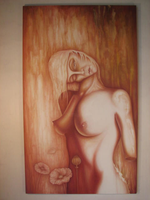 """Painting titled """"The Anima Figure."""" by Neal Curtin, Original Art, Oil"""