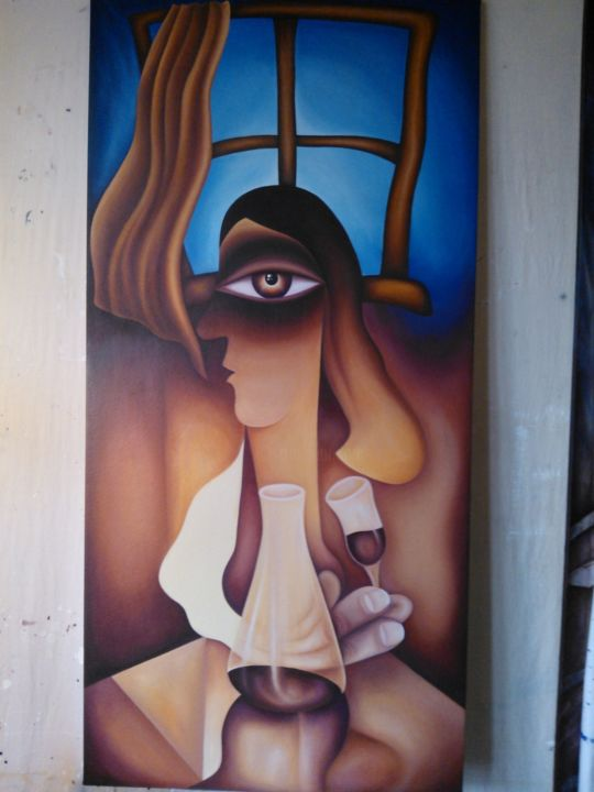 """Painting titled """"No title (large abs…"""" by Neal Curtin, Original Art, Oil"""