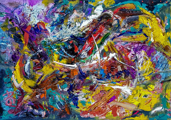 Style of Abstract Expressionism Textured Oil Art. - Painting,  30x42x0.2 cm ©2019 by Retne -                                                                                Abstract Art, Abstract Expressionism, Contemporary painting, Expressionism, Abstract Art, Style Abstract Expressionism, Abstract Textured Oil, Modern abstract art, Expressive abstract painting, Modern abstract painting, abstract expressionism, contemporary abstract art, style of willem de kooning, oil abstract painting, similar to willem de kooning