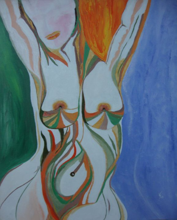 """Painting titled """"The Womb.jpg"""" by Reuben Ray, Original Art, Oil"""