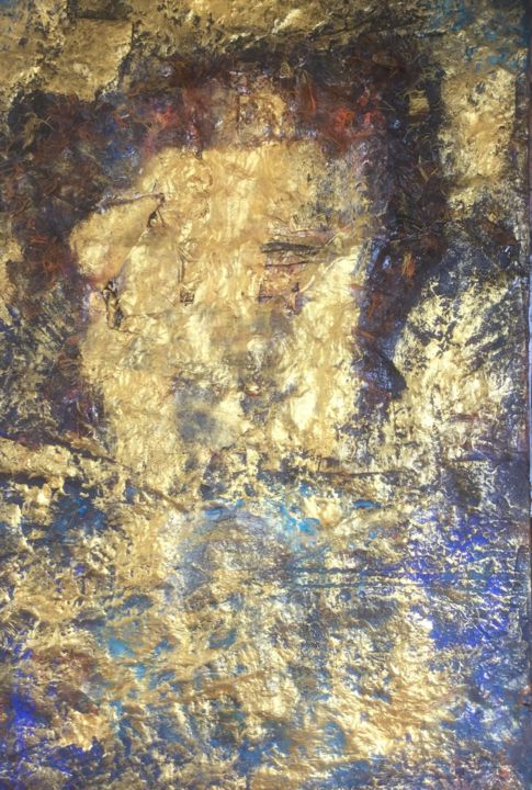 """Painting titled """"Private Gold"""" by Sonja Bremmers, Original Art, Acrylic"""