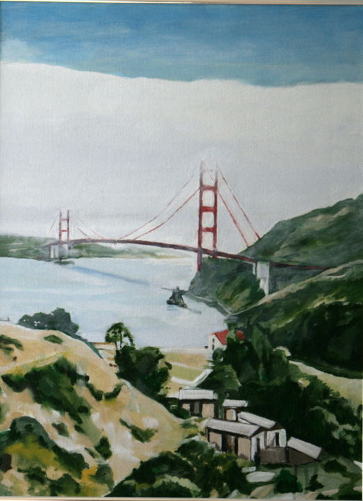 Golden Gate 2.jpg - Events / Personal Photos,  24x18 in, ©2015 by rfmetro -                                                                                                                                                                          Impressionism, impressionism-603, Cities