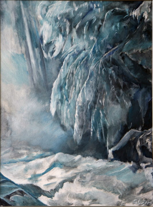 winter1.jpg - Painting,  24x18 in, ©2016 by rfmetro -
