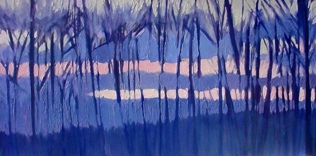 """Painting titled """"Serenity Large oil…"""" by Rebecca Grantham, Original Art, Oil"""
