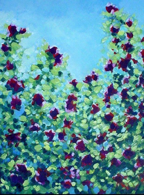 """Painting titled """"Rose No.8"""" by Rebecca Grantham, Original Art, Oil"""