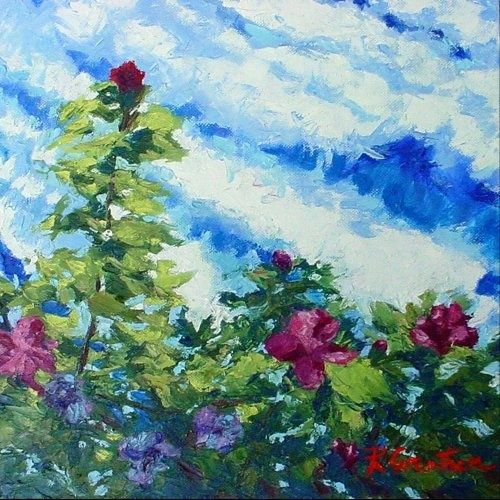 """Painting titled """"Rose No. 10"""" by Rebecca Grantham, Original Art,"""