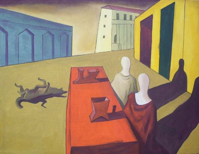 """Painting titled """"Luncheon at 21st st…"""" by Rianne Salvarita, Original Art,"""
