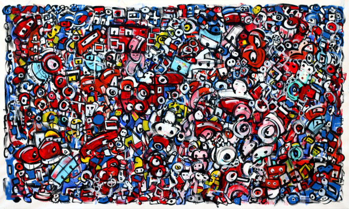 """Painting titled """"A look from the rea…"""" by Riccardo Vitiello, Original Art, Acrylic"""