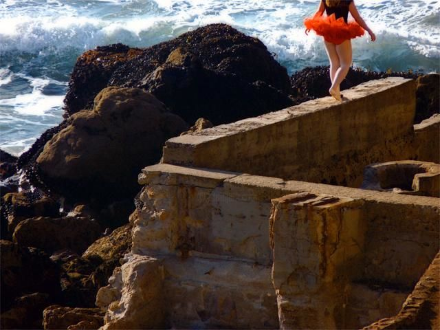 Dancing on the Edge (Sutro Ruins) - Digital Arts,  20x16 in ©2012 by Richard Dodds -