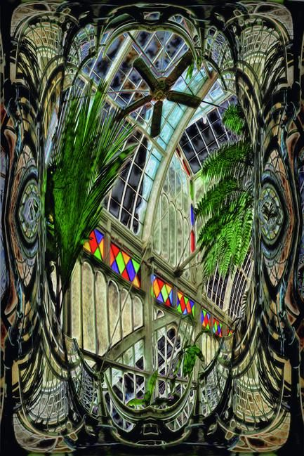 Inside the Conservatory of Flowers - Digital Arts,  18x12 in, ©2012 by Richard Dodds -