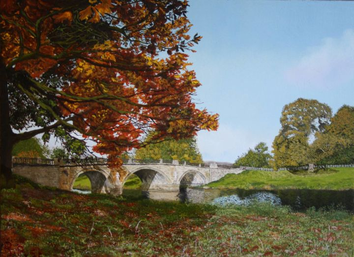Bridge to Chatsworth House - © 2019  Online Artworks
