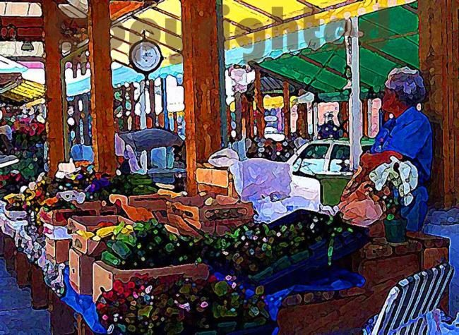 Farmer' Market - Photography,  8x10 in ©2007 by Susan Lamson -