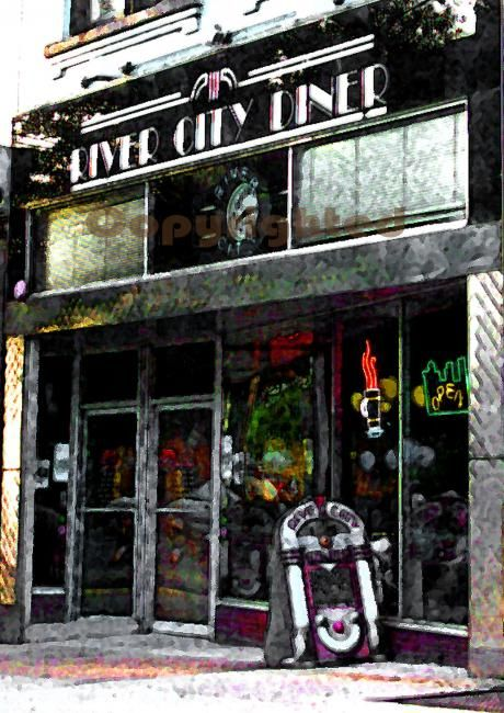 River City Diner - Photography, ©2007 by Susan Lamson -
