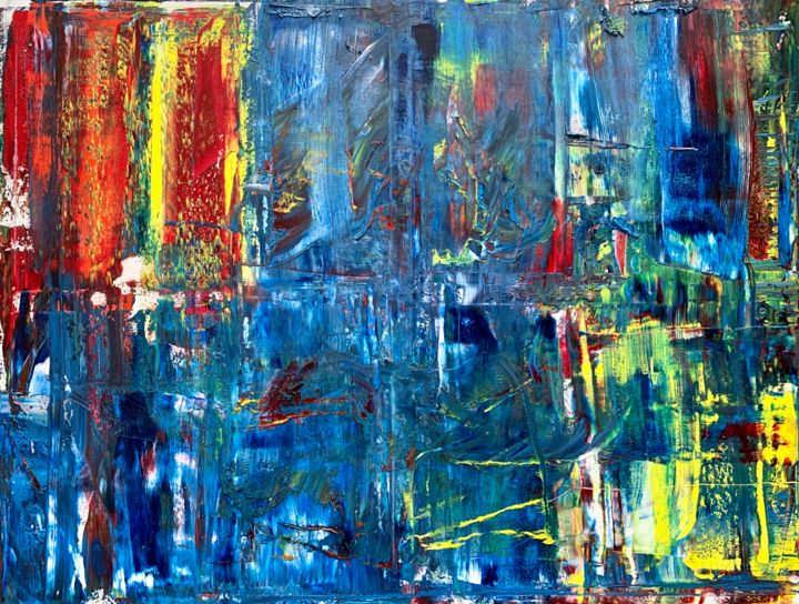 Abstract Oil Painting - RM 880- 19 - Painting,  47.2x63x0.7 in, ©2020 by Rico Mocellin -                                                                                                                                                                                                                                                                                                                                                                                                                                                                                                                                                                                                                                                                                  Expressionism, expressionism-591, Abstract Art, Art, artwork, abstract, abstractart, oilpainting, painting, abstrakt, abstraktkunst, kusnt, kunstwerk, malerei