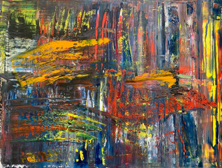 Abstract Oil Painting - RM 881- 20 - Pittura,  47,2x63x0,7 in, ©2020 da Rico Mocellin -                                                                                                                                                                                                                                                                                                                                                                                                                                                                                                                                                                                                                                                                                                                                                                          Expressionism, expressionism-591, Arte astratta, art, artwork, abstract, abstractart, oilpainting, painting, color, abstrakt, abstraktkunst, kunst, kunstwerk, olmalerei, malerei