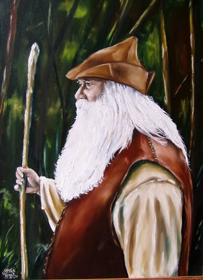 """Painting titled """"The Highwayman (ori…"""" by Steven Riggs, Original Art,"""