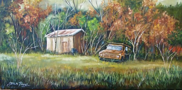 """Painting titled """"Retired"""" by Steven Riggs, Original Art,"""