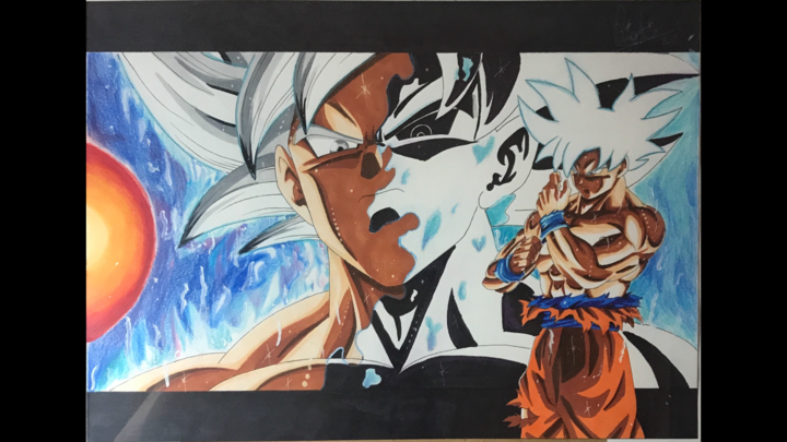 Dragon Ball Super Goku Ultra Instinct Maitrise Drawing By Righi Draw