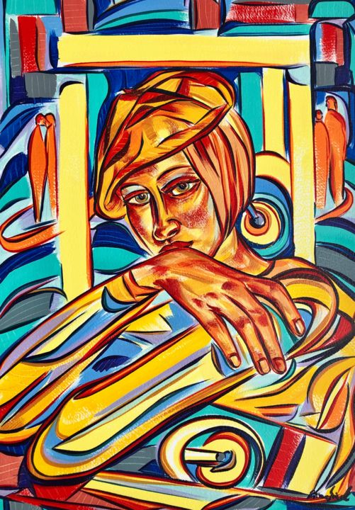 """Painting titled """"Fleeting thoughts"""" by Riina Sirel, Original Art, Acrylic"""