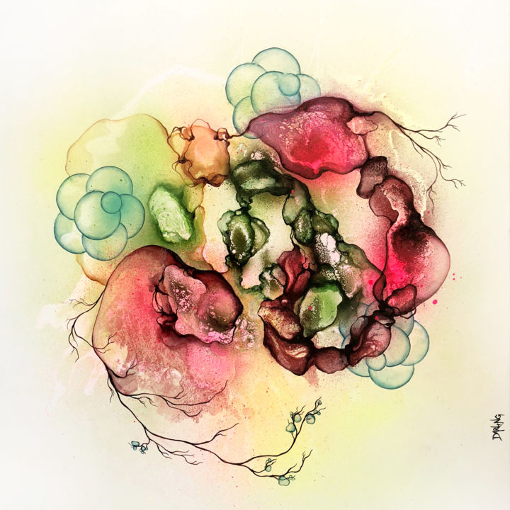 """Painting titled """"Spiral"""" by Rikke Darling, Original Art, Acrylic"""