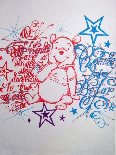 """Drawing titled """"Whinnie The Pooh"""" by Ripe.7, Original Art,"""
