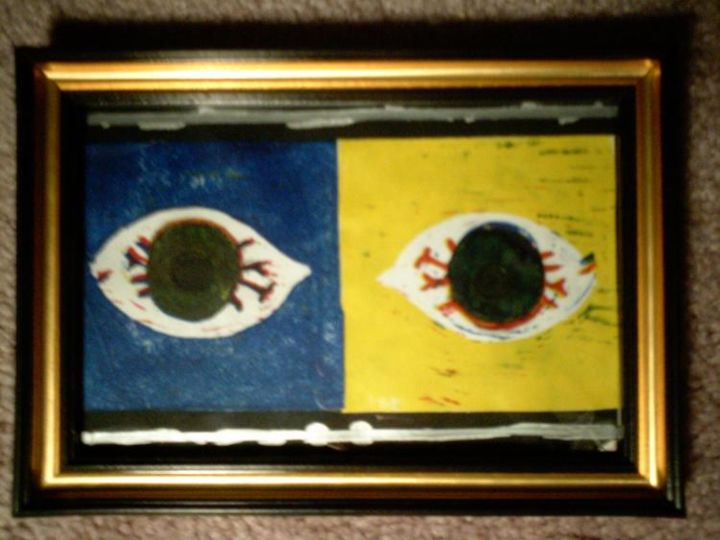 """Printmaking titled """"Untytled(eyed)"""" by Dude Obvious!, Original Art,"""