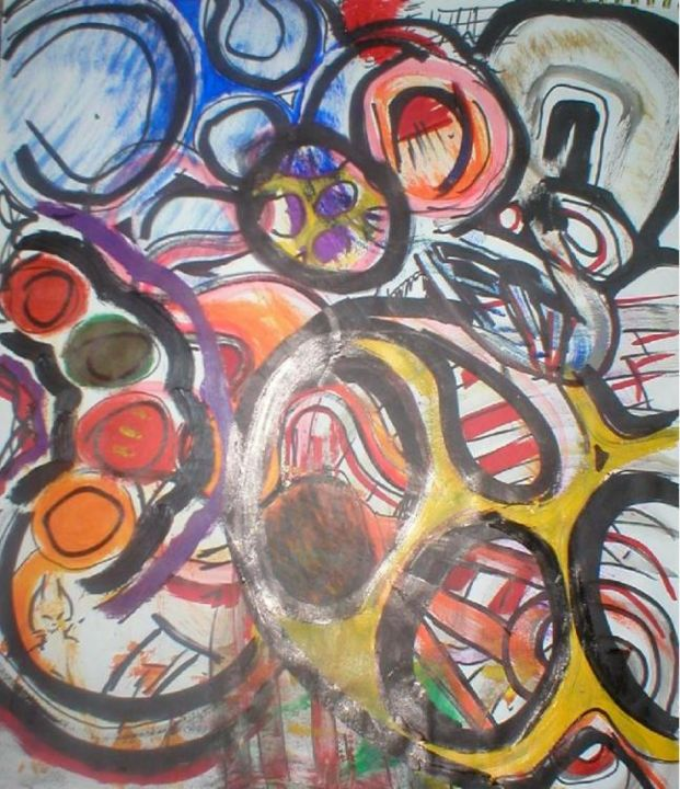 """Printmaking titled """"curious things happ…"""" by Dude Obvious!, Original Art,"""