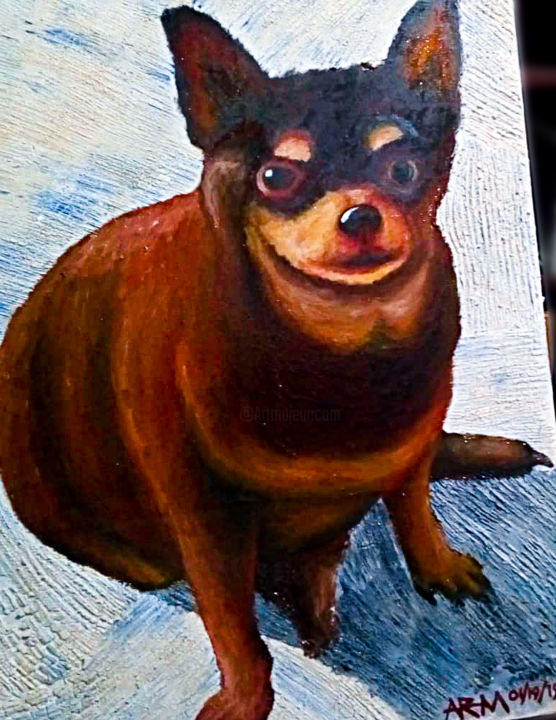 """Painting titled """"Waddles"""" by Roberto Monterola Jr., Original Art, Oil"""
