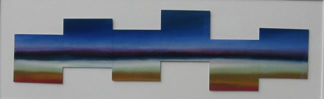 Geoscape - Painting,  14x29 in, ©2013 by Rob Debartolo -