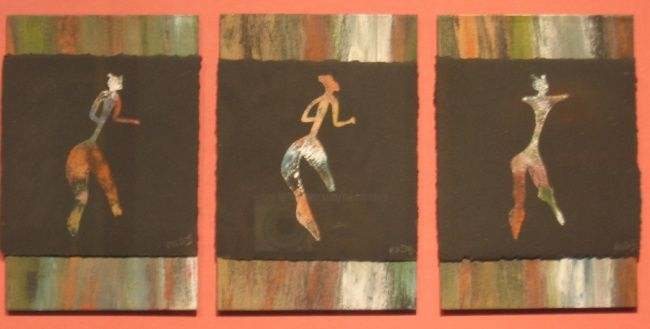 Little Ladies - Painting,  19x12 in ©2013 by Rob DeBartolo -