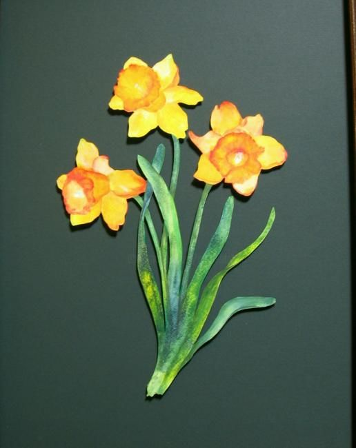 Daffodils - Painting,  19x25 in ©2013 by Rob DeBartolo -