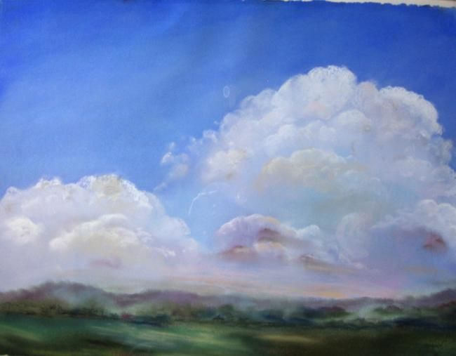 Sky 1 - Painting,  24x32 in, ©2013 by Rob Debartolo -