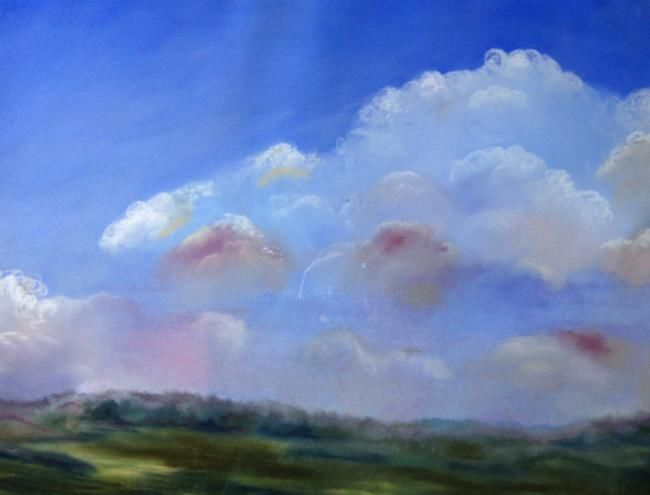 Sky 2 - Painting,  24x32 in, ©2013 by Rob Debartolo -