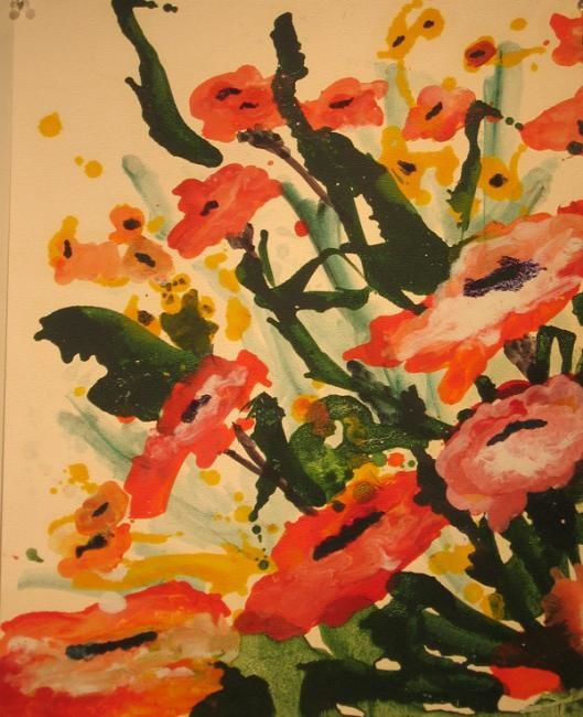 Poppies - Painting,  24x28 in ©2013 by Rob DeBartolo -