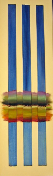 Dimensions - Painting,  35x12 in, ©2013 by Rob Debartolo -