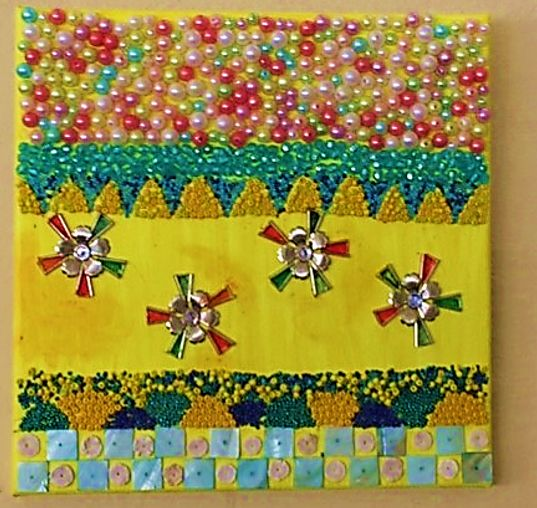 """Painting titled """"Flowers in yellow"""" by Robert B, Original Art, Oil"""