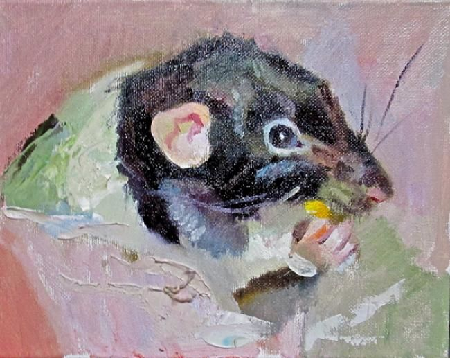 """Painting titled """"Treat Time"""" by Robin Frey, Original Art, Oil"""