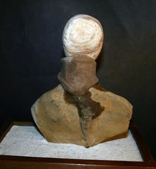_sculputre_girl_with_a_mink_collar_2011_.jpg - Sculpture ©2011 by Robin mols -            stone works