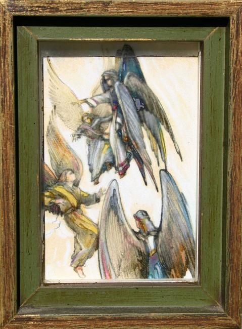 THREE ANGELS AND A SERAPHIN - Drawing ©1998 by robin mols -