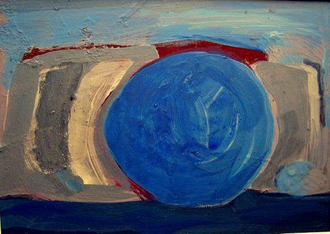 """Painting titled """"Blue Sunset"""" by Rob Mohr, Original Art,"""