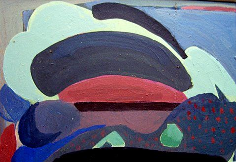 """Painting titled """"Azuay (Moon Rise an…"""" by Rob Mohr, Original Art,"""