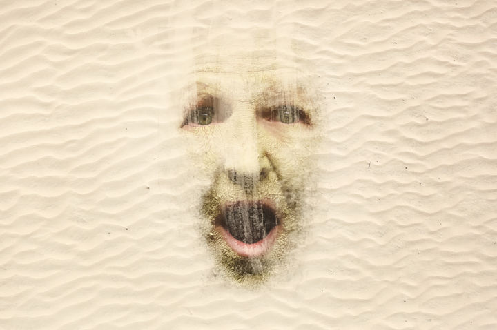 """Photography titled """"""""SandMan"""""""" by Fred Moore, Original Art, Manipulated Photography"""