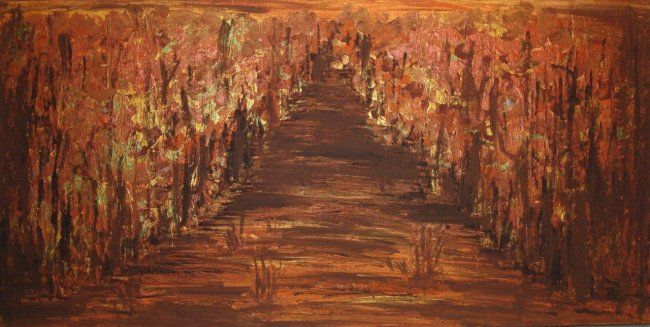 """Painting titled """"Forest"""" by Rocsana Oana, Original Art, Oil"""
