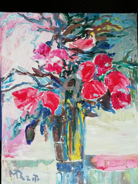 Flowers - Painting, ©2017 by rodica -