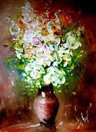 __.__.__. - Painting,  50x70 cm ©2012 by Вячеслав Гришанов -                            Figurative Art, Цветы